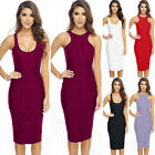 Sexy Women's Sleeveless Cocktail Slim Bodycon Long Vest Dress Outwear New Design