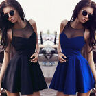 New Womens Summer Sleeveless Lace Evening Party Cocktail Short Mini Dresses Tide