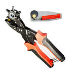 Heavy Duty Strap Leather Hole Punch Hand Plier Belt Punch Revolving For DIY
