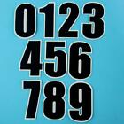Black Diy Number 0 - 9 Iron on Sew Patch Applique Embroidered School Sports Diy.