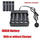 18650 3.7V Rechargeable Li-ion Battery OR AU Charger For Flashlight  Au Stock