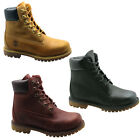 Timberland AF Full Leather 6 Inch Premium Womens Boots Lace Burgundy White Black