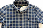 BOYS RALPH LAUREN  ORIGINAL NAVY PLAID COTTON  BUTTON DOWN SHORT-SLEEVE SHIRT.