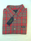 BOYS RALPH LAUREN RED  PLAID COTTON  SHIRT.        Large&xLarge  only