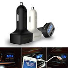 Portable 4 In 1 3.1A ABS Dual USB Car Kit Charger Thermometer Voltmeter Ammeter