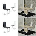 Maida Cream Extending 120-160cm High Gloss Dining Table + Core Dining Chairs