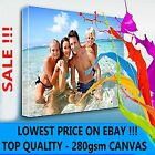 """LARGE YOUR PERSONAL PHOTO ON CANVAS 30 x 20"""" - DEEP 28MM FRAME ! PERFECT GIFT !"""