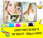 """YOUR PICTURE PERSONALISED ON TO CANVAS BOX 34"""" x 22"""" - 28MM FRAME TOP QUALITY !"""