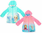 Girls Disney Frozen Sisters Anna & Elsa Front Print Hooded Coat 4 to 8 Years