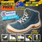 Safety Jogger Boots Work Shoes Desert Steel Toe Blue Antistatic Shock Proof Hike