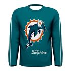 New miami dolphins sublimated Men's Long Sleeve T-shirt Size S M L XL 2XL 3XL