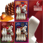 Glade Air Freshener PlugIns Scented Oils 6 Refills Warmer NEW Autumn Collection