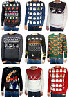 Christmas Xmas Jumper snowmen Santa Clause Retro vtg 80's ugly fairisle kitsch