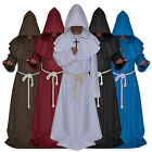 Halloween Monk Wizard Friar Robe Priest Christian Nazarene Church Father Cosplay