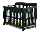 New 5 in 1 Convertible Baby Crib W / Mattress Toddler Nursery Bed Changer Side