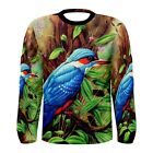 New Painting Bird sublimated Men's Long Sleeve T-shirt Size S M L XL 2XL 3XL