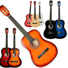 "New 38"" Size Beginners Acoustic Guitar With Pick String 9 Colors Black White"