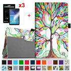 Leather Case + 3pcs Screen Protector For Samsung Galaxy Tab E 8.0 8-Inch Tablet