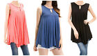Women Plus Size keyhole A Line Casual Loose Tunic Top Shirt Dress