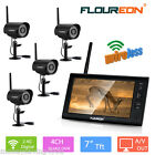 """7"""" TFT LCD Wireless CCTV DVR Monitor Home Security CCTV Video System Camera"""