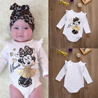 Newborn Baby Girl Minnie Mouse Romper Jumpsuit Bodysuit Outfit Set Clothes 0-18M