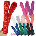 Long gloves lace floral carnival burlesque bride lingerie new A-04