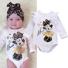 Minnie Mouse Newborn Infant Baby Boy Girls Bodysuit Romper Outfit Cotton Clothes