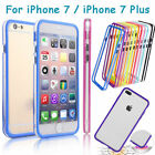 Ultra Thin Soft TPU Colored Bumper Shockproof Frame Case for iPhone 7/7 Plus