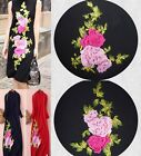 New Embroidered Rose Red Pink Floral Sew Appliques Trendy Design TWO STYLE WT73