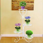 Wrought Iron Flower Stand Design Bilayer Innovative Crafts Put 4 Potted Plant US