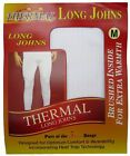 4 PAIRS MENS THERMAL LONG JOHNS BRUSHED WITH HEAT TRAP UNDERWEAR IN 3 COLOURS