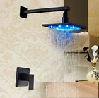 LED Oil Rubbed Bronze Bathroom Shower Faucet Set Single Handle Wall Mounted