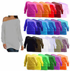 Ladies Plain Long Sleeved Batwing T-Shirt Womens Stretch Tunic Top Plus Size