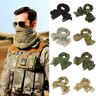 Camouflage Tactical Mesh Scarf Mask Shemagh Sniper Veil Camo Military Neck Wrap