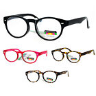 SA106 Oval Horn Rim Multi 3 Focus Progressive Reading Glasses