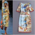 Wholesale Italy 2016 New Hot Sale Sea Island Printing Beads Slim Holiday Dress