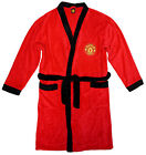 Mens Official MANCHESTER UNITED FC Fleece Dressing Gown Bathrobe M L XL