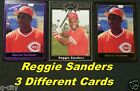 REGGIE SANDERS _ 3 Different Limited-Print RARE Cards _ Choose 1 or More