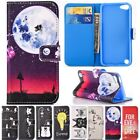 Painted Wallet Kickstand Leather Cards Flip Case Cover For Apple iPod Touch 5/6