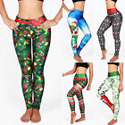 Women Casual 3D Christmas Printed Leggings Yoga/Fitness Pants Stretchy Trousers