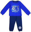 Boys Official Chelsea FC Blues Toddler Cotton Pyjamas 12 Months to 4 Years