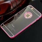 BLING DIAMANTE MIRROR CASE COVER iPhone 5 5S 6 6S PLUS PINK SILVER GOLD BLACK
