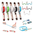 2in1 aufrollbar Lightning + Micro USB Lade Daten Kabel f. iPhone Android Samsung