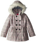London Fog Girls Printed Faux Wool Coat Size 4 5/6 6X