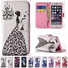 Pattern Flip Cards Stand Wallet Leather Diamond Case Cover For iPhone 6 6s Plus