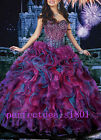 New Ball Gown Beading Ruffles Quinceanera Prom Formal Dresses Stock Size2-4-8-16