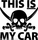 Adesivo Sticker SKULL THIS IS MY CARStyle auto moto tuning racing sport gp music