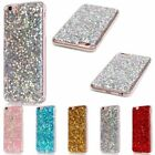 Rubber Bling Glitter Silicone TPU Cover Case For iPhone 5S 6 6S Plus 7/7Plus SE