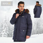 Regatta Men's Andram Waterproof Down Insulated Parka Jacket - Navy Blue