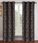 Pair of Gladys Jacquard Window Curtain Panels w/Grommets